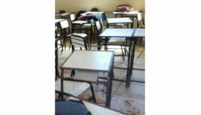 Armado com garrucha e facão, ex-aluno invade escola e deixa dois feridos