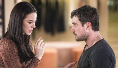 Em 'A dona do pedaço', Camilo tenta estuprar Vivi e morre