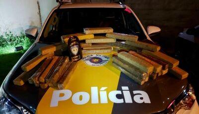 PRF apreende 27 quilos de maconha em carro com placas de Glória de Dourados