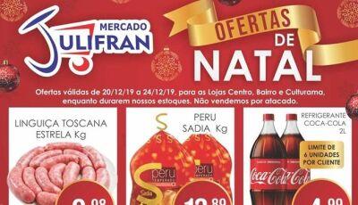 Confiras as OFERTAS DE NATAL do Mercado Julifran que abre nesta terça 24 até às 19h em Fátima do Sul