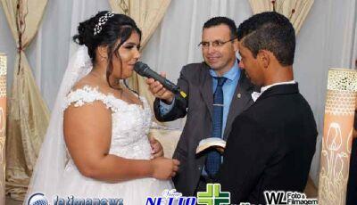 Confira as FOTOS do casamento de Paulo Henrique e Mayara no Clube Piscina de Jateí