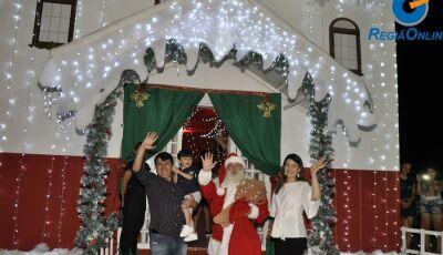 Confira as FOTOS da chegada do Papai Noel em Vicentina