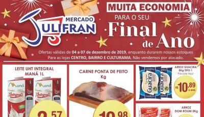 Confira as PROMOÇÕES DA SEMANA e da QUARTA VERDE do Mercado Julifran em Fátima do Sul