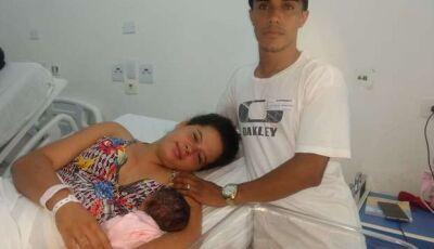 Primeira campo-grandense do ano, Júlia nasceu durante queima de fogos na cidade