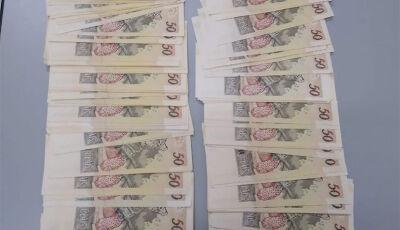 Ação de presidiário que dizia ser morador em Fátima do Sul, termina com descoberta de dinheiro falso