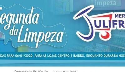 Confira algumas das ofertas da SEGUNDA DA LIMPEZA do Mercado Julifran em Fátima do Sul