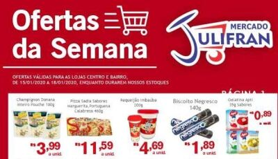 Confira as OFERTAS DA SEMANA que vão até neste sábado no Mercado Julifran em Fátima do Sul