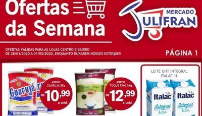 Confira as OFERTAS DA SEMANA que vão até sábado no Mercado Julifran em Fátima do Sul