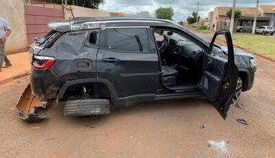 Homem destrói Jeep de R$ 110 mil um dia após comprar carro em MS