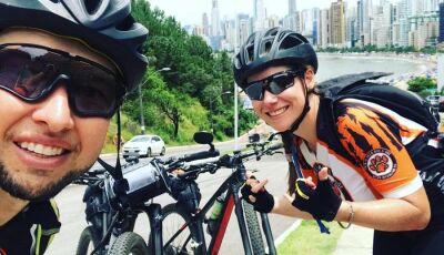 Ciclistas de Nova Andradina pedalam mais de 750 km para chegar ao litoral catarinense