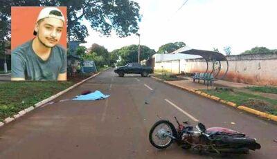 Motociclista invade preferencial, é atropelado por caminhonete e morre em Dourados