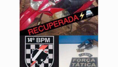 Assaltante de moto em Vicentina morre em confronto com Força Tática em Deodápolis