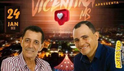 Mazinho e Luciano voltam para se apresentar na Feira Livre nesta sexta-feira em Vicentina