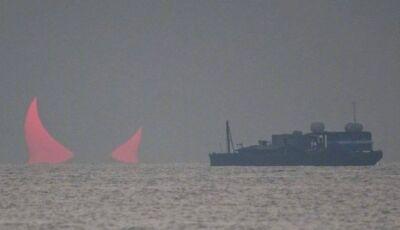 Fotógrafo registrou 'chifres do Diabo' no horizonte do Golfo Pérsico