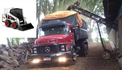 Bandidos furtam caminhão carregado com duas BobCat em Fátima do Sul