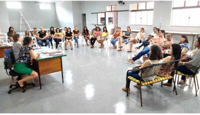 SIMTED de Fátima do Sul se reúne com Profissionais em Educação para debater sobre o Piso Nacional