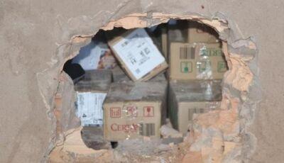 Bandidos fazem buraco em parede e furtam R$ 35 mil de lotérica em MS