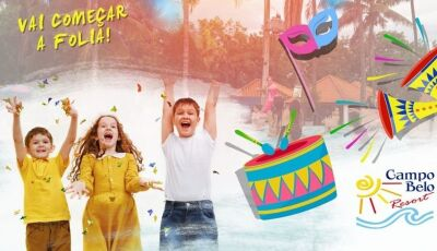 Pacote 'Esquenta de Carnaval' no Campo Belo Resort de 14 à 16 de fevereiro, faça sua reserva