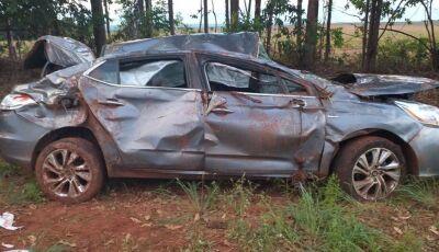 Fatimassulense fala da angústia sobre acidente que deixou veículo destruído, casal está bem