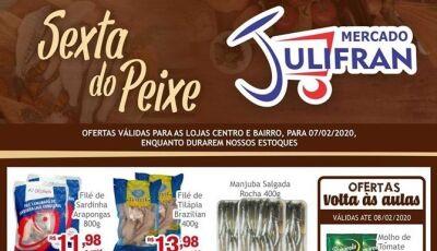 Confira as ofertas da SEXTA DO PEIXE do Mercado Julifran em Fátima do Sul