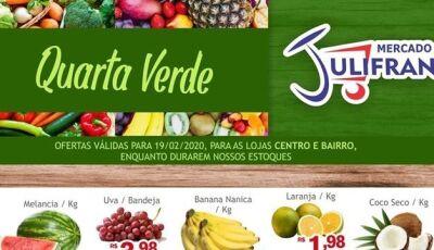 Confira as ofertas da QUARTA VERDE do Mercado Julifran em Fátima do Sul