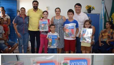 Prefeitura começa entrega os Kits Escolares que vão beneficiar 562 crianças em Vicentina