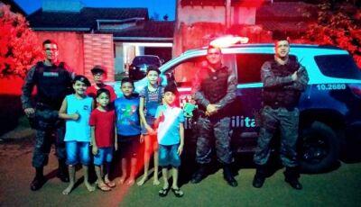 Força Tática faz surpresa ao aniversariante Pedro Henrique em Fátima do Sul