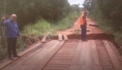 Tromba d'água castiga o Distrito de Amandina
