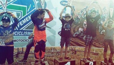 Gloriadouradense vence na abertura do Sul-Mato-Grossense de Velocross categoria mini moto na Capital
