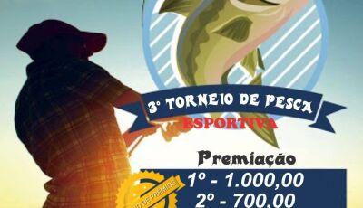 Inscrições abertas para o 3º Torneio de Pesca Esportiva no Pesqueiro 7 Bello em Vicentina