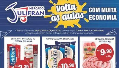 Hoje tem Quarta Verde e e inúmeras ofertas da semana e Volta às Aulas no Mercado Julifran em Fátima