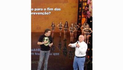 Domingão é exibido sem plateia pela 1ª vez na história; balé é contratado