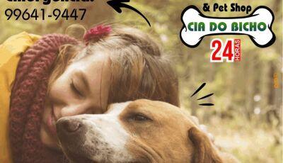 Fim de semana chegou, mas a Cia do Bicho tem plantão 24h para cuidar do seu pet em Fátima do Sul