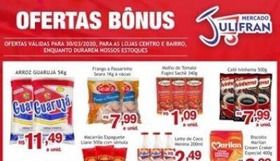 Confira a SEGUNDA DA LIMPEZA e as OFERTAS BÔNUS do Mercado Julifran em Fátima do Sul
