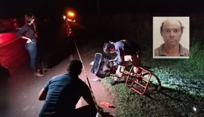 Ciclista morre após ser atropelado por veículo que foge sem prestar socorro na BR-163 em Dourados