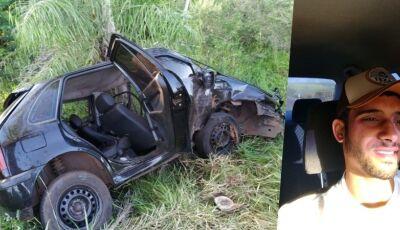 Identificado jovem que perdeu a vida em grave acidente na BR 376 entre Glória e Deodápolis