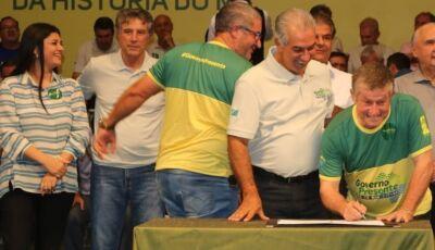 Jateí: Eraldo assina com Reinaldo Azambuja mais de R$ 700 mil para investimentos em Nova Esperança