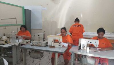 Detentas começam confeccionar máscara de proteção para atender Jateí, Vicentina e Fátima do Sul