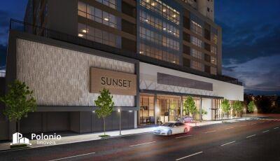 Sunset, edifício Resort com conceito residencial e comercial é na Polonio Imóveis em Dourados