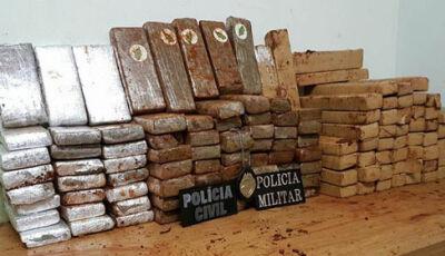 Polícia Militar apreende 123 tabletes de maconha em Glória de Dourados