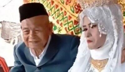 Após pagar dote de R$ 1.600, centenário se casa com jovem 80 anos mais nova