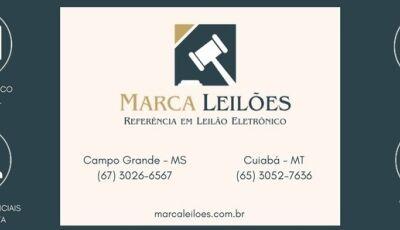 Marca Leilões informa 1º Leilão eletrônico dia 04/05 de imóvel rural localizado em Fátima do Sul