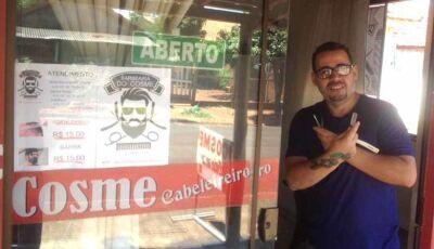 Barbearia do Cosme reabre nesta 2ª, 6 em Fátima do Sul, com promoção de corte de cabelo a 10 reais