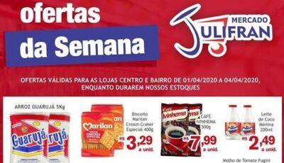 Confira alguns destaques das OFERTAS DA SEMANA do Mercado Julifran em Fátima do Sul