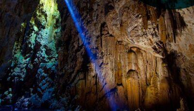 E aí, tem coragem?, Rapel de 72m de altura em uma caverna inundada de água cristalina em Bonito (MS)
