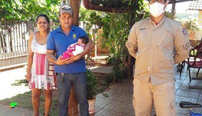 Por Telefone Bombeiro Militar salva vida de recém nascido em Ivinhema