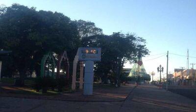 Frente fria trouxe madrugada gelada com clima de inverno para Fátima do Sul