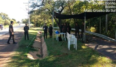 Bonito (MS) tem Exército Brasileiro nas entradas de acesso proibindo chegada de turistas na cidade