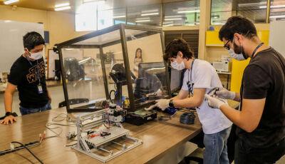 Inova Unigran desenvolve protótipos de protetores faciais para doar aos profissionais da saúde