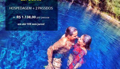 Bora pra Bonito (MS) com até 50% de desconto?, reservas antecipas de hospedagem e passeios, CONFIRA
